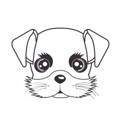 hand drawing cute face puppy vector image vector image
