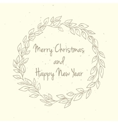 Hand drawn Christmas and New Year invitation card vector image
