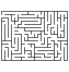 Kids riddle maze puzzle labyrinth vector