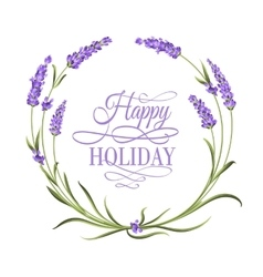 Lavender elegant card vector image vector image