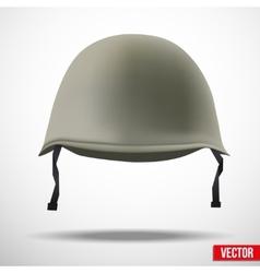 Military classic helmet vector image vector image