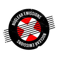Nuclear emissions rubber stamp vector