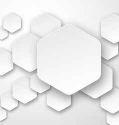 Paper white hexagonal notes vector image