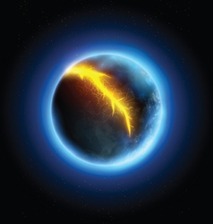Realistic planet vector image