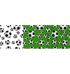 Seamless football balls vector image