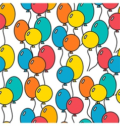 Seamless holiday background with balloons vector image vector image