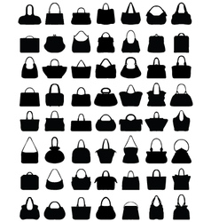 silhouettes of handbags vector image