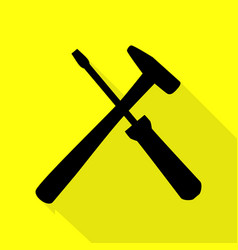 Tools sign black icon with flat vector
