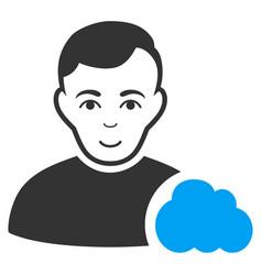User cloud icon vector