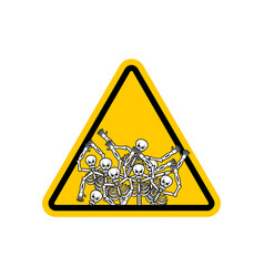 Warning sign of attention sinners dangers yellow vector