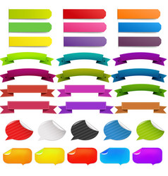 web ribbon big set vector image vector image