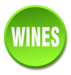 Wines green round flat isolated push button vector