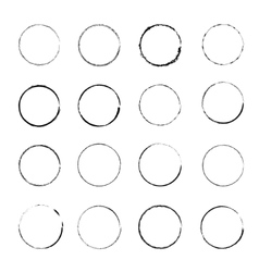 Set of grunge circle stains vector