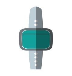 Smart watch green screen wearable technology vector