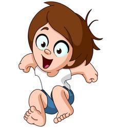 jumping kid vector image