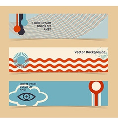 Set of horizontal banners headers editable design vector
