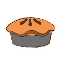 Pie dessert food vector