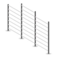 Steel swedish wall in 3d vector
