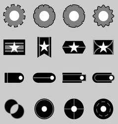 Create web icons on gray background vector