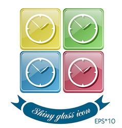 Clock icon watch symbol time vector