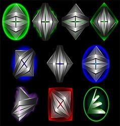 3d symbol creative design set1 vector image