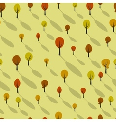 Seamless pattern with cartoon trees vector