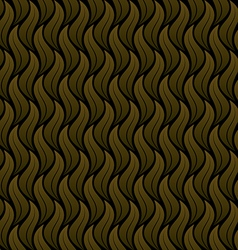 Leaf pattern gold which black background vector
