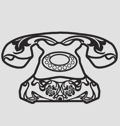 Art nouveau phone vector