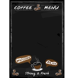 Coffee menu chalkboard style with copyspace vector