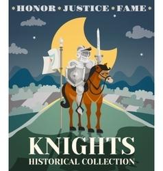 Knight poster vector