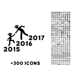 Years guys help icon vector