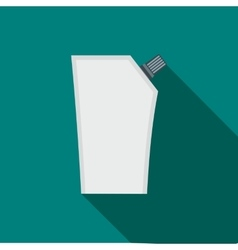 Plastic pouch with batcher flat icon vector image