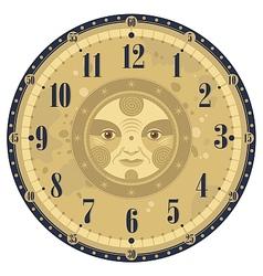 Vintage clock face vector