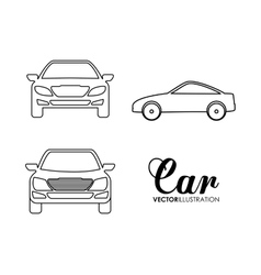 Silhouette cars set transportation design vector