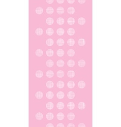 Abstract pink textile dots vertical seamless vector