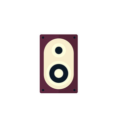 audio speaker icon flat style vector image
