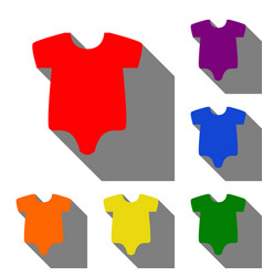 baby cloth set of red orange vector image