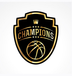 Basketball champions badge emblem vector