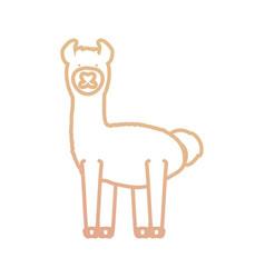 Cartoon alpaca icon vector