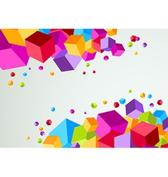 Colorful cubic bright background vector