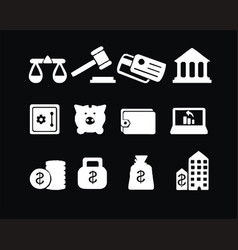 Economy icon sets images vector