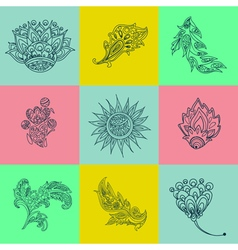 Ethnic elements ornamental elements background vector