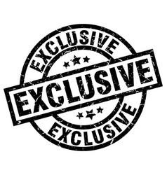 Exclusive round grunge black stamp vector