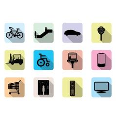 Facilities icons vector