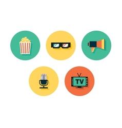 Film icons multimedia set vector image