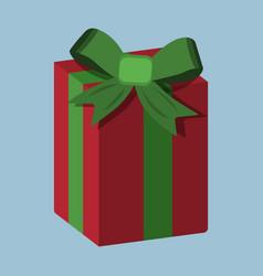 gift xmas icon cartoon style christmas day vector image vector image