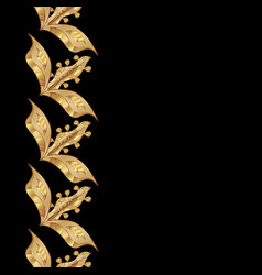 golden seamless pattern golden elements in vector image