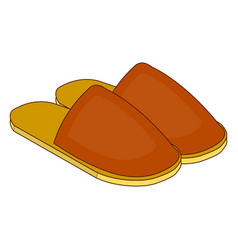 home slippers icon in cartoon style vector image vector image