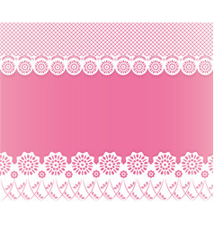 Lace papercut frame vector