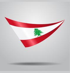 Lebanese flag background vector